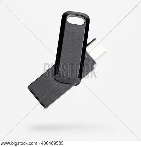 USB flash drive mockup technology data storage device