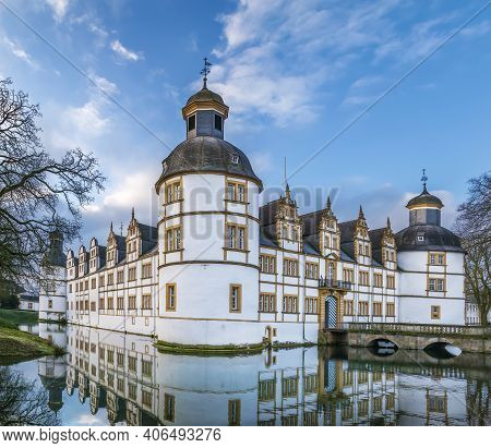 Neuhaus Castle, Former Residence Of Bishop Princes, Is Quite A Famous Renaissance Castle In North Rh