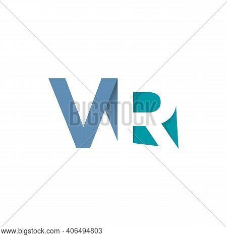 Initial Vr Letter Typography Logo Design Vector. Combination Of Letter V And R Typography Logo Desig