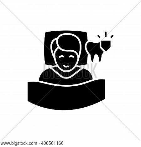 Dental Guard Glyph Icon. Teeth Grinding Treatment. Sleep Disorder. Healthy Sleeping Concept. Sleep P