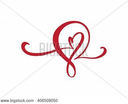 Number 8 Eight Logo Of March. For Congratulation Calligraphy Text. Lettering For Womans Day. Can Use