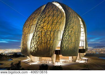 Santiago, Region Metropolitana, Chile - October 10, 2016: Tthe Eight Bahá'í Temple In The World And