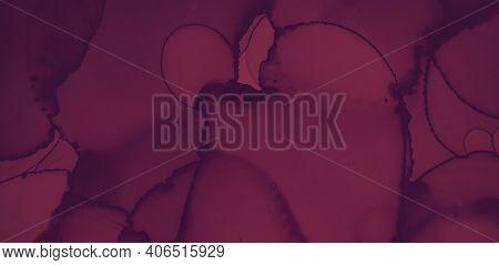 Red Wine Splash. Watercolor Maroon Template. Modern Alcohol Cover. Dark Maroon Template. Color Wine
