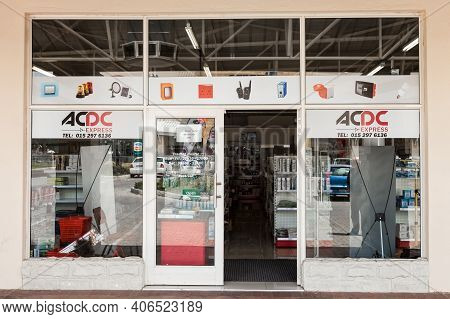 Exterior Entrance Of A Diy Electrical Wholesale Retail Store