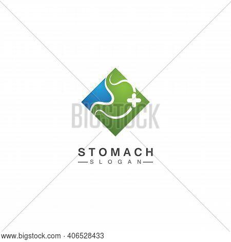 Stomach Logo Vector Illustration Design - Creative Gastroenterology Healthy Logo Element Icon, Stoma