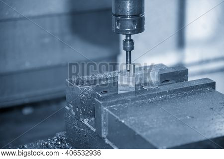 The  Cnc  Milling Machine Set-up The Work By Edge-finder Tool. The  Mold And Die Manufacturing Conce