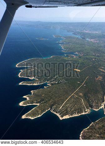 Discovering The Adriatic Area Of Croatia In A Plane 25.8.2016