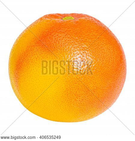 Grapefruit Citrus Fruit Isolated On White Background With Clipping Path.