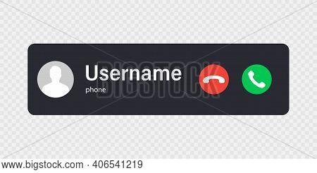 Mockup Incoming Call. Mobile Call Screen Template. New Call Screen Template. Vector Illustration