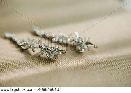 Accessories For The Bride. Earrings . White Wedding Earrings.