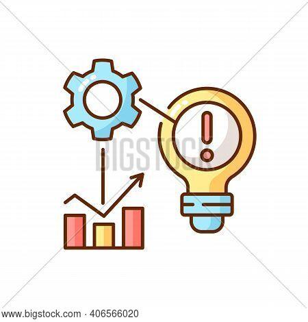 Identifying Problems Rgb Color Icon. Root Cause Analisys. Creativity Development. Brainstorm. Creati