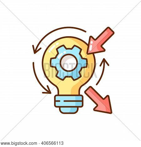 Reflection Rgb Color Icon. High Skill Thinking And Analysing. Creativity Development. Creative Criti