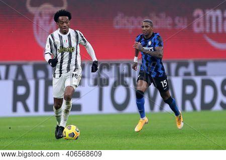 Milano, Italy. 02th Fabruary 2021 . Juan Cuadrado Of Juventus Fc  During The Coppa Italia Semi-final