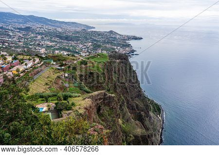 View From The Highest Cliff Cabo Girao On Madeira Island