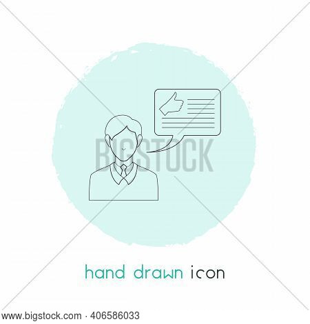 Blog Commenting Icon Line Element. Vector Illustration Of Blog Commenting Icon Line Isolated On Clea
