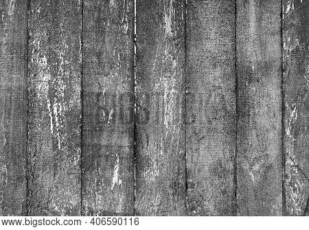Shabby Barn Wood Wall. Grey Desk Slat Sheet Material Background. Weathered Grunge Barn Surface Isola