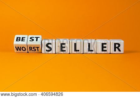 Worst Or Best Seller Symbol. Turned Wooden Cubes And Changed Words 'worth Seller' To 'best Seller'.