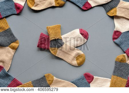 National Sock Day Or Odd Socks Day Background, Symbol Of Anti-bullying Campaign.