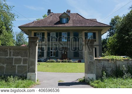 Bern, Switzerland - August 9, 2019 - View Of The House In Bern