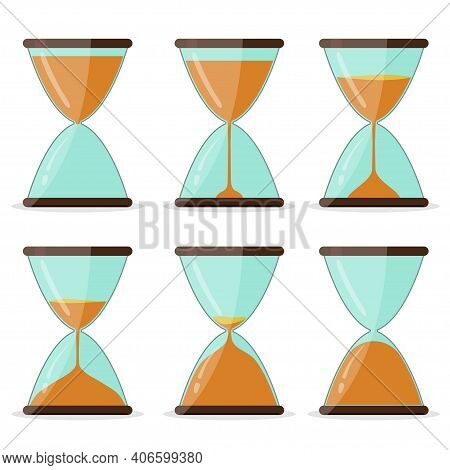 Hourglass Frame Set, Pictures For Animation Vector