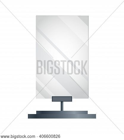 Blank Billboard Advertising. Advertising Constructions Or Outdoor Billboard. Marketing Vector Icon.