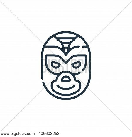 Wrestler Vector Icon From Mexico Collection Isolated On White Background
