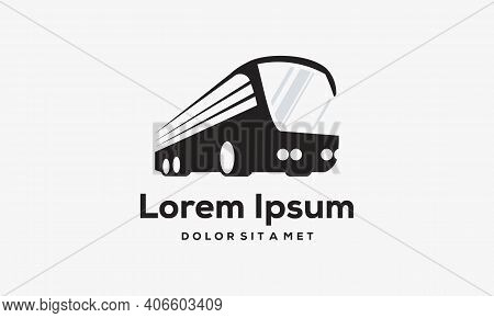 Jet Bus Logo Designs Concept Vector, Transport Logo Designs