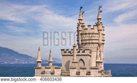 Swallow's Nest Castle Over The Black Sea. Swallow's Nest Castle Is A Business Card Of The Crimea.