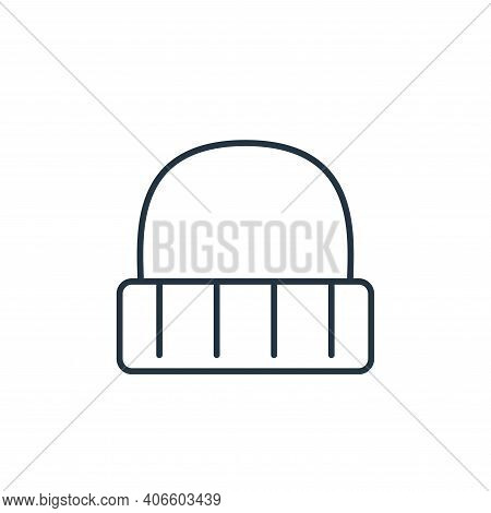 wool hat icon isolated on white background from clothes and outfit collection. wool hat icon thin li