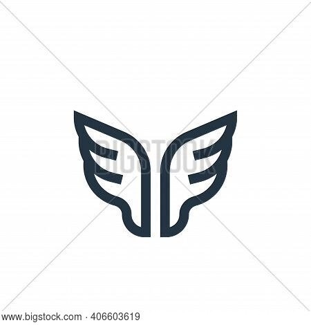 wings icon isolated on white background from rock and roll collection. wings icon thin line outline