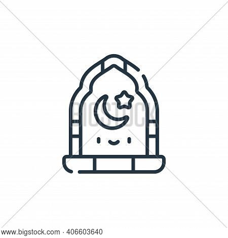 window icon isolated on white background from ramadan collection. window icon thin line outline line