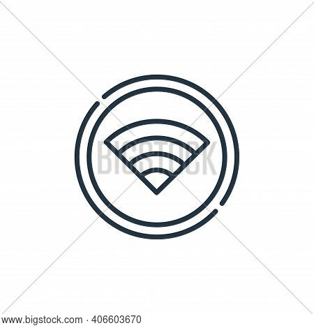 wifi icon isolated on white background from signals and prohibitions collection. wifi icon thin line