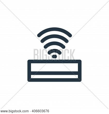 wifi icon isolated on white background from computer hardware collection. wifi icon thin line outlin