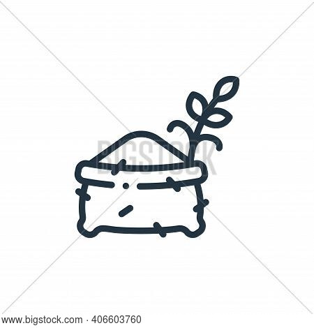 wheat icon isolated on white background from in the village collection. wheat icon thin line outline