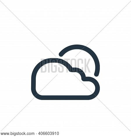 weather icon isolated on white background from travel collection. weather icon thin line outline lin