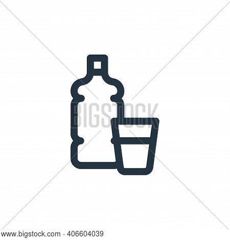 water icon isolated on white background from health collection. water icon thin line outline linear