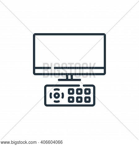watching tv icon isolated on white background from free time collection. watching tv icon thin line