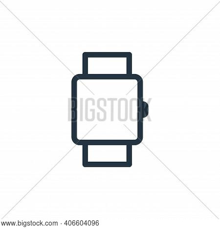 watch icon isolated on white background from technology collection. watch icon thin line outline lin