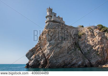 Swallow's Nest Castle On A Mountain Above The Black Sea. Swallow's Nest - The Business Card Of The C