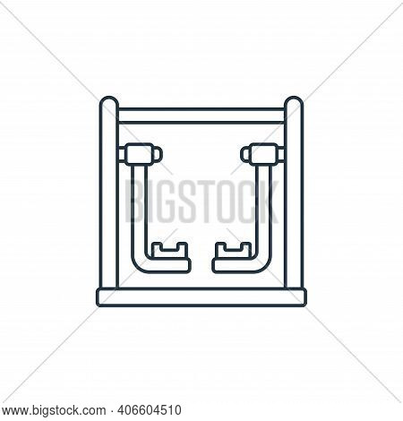 walker icon isolated on white background from fitness collection. walker icon thin line outline line