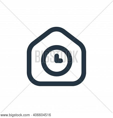 waiting icon isolated on white background from stay at home collection. waiting icon thin line outli