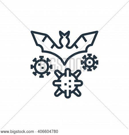 virus transmission icon isolated on white background from coronavirus collection. virus transmission