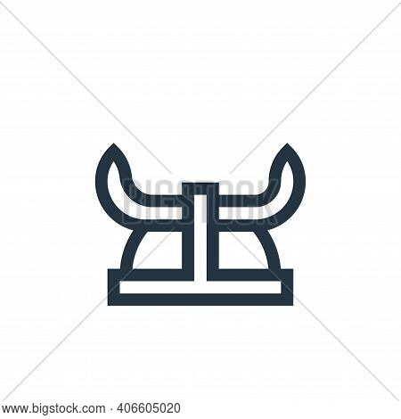 viking helmet icon isolated on white background from history collection. viking helmet icon thin lin