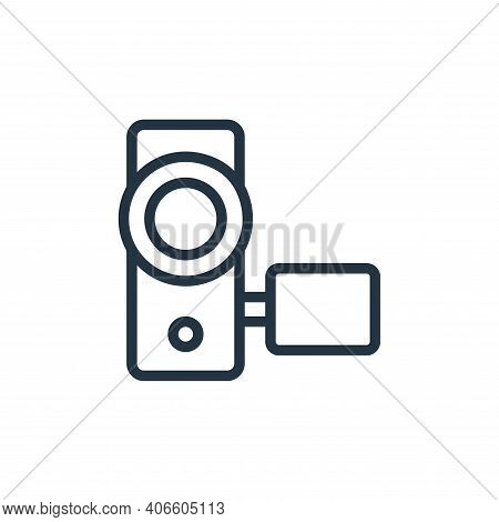 video camera icon isolated on white background from photography collection. video camera icon thin l