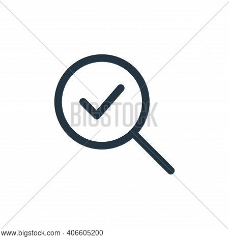 Verify Vector Icon From Web Apps Seo Collection Isolated On White Background
