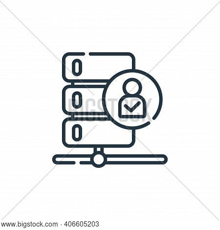 verified icon isolated on white background from database and servers collection. verified icon thin