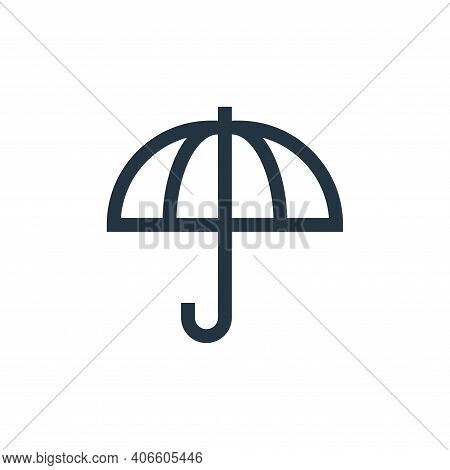 umbrella icon isolated on white background from insurance collection. umbrella icon thin line outlin