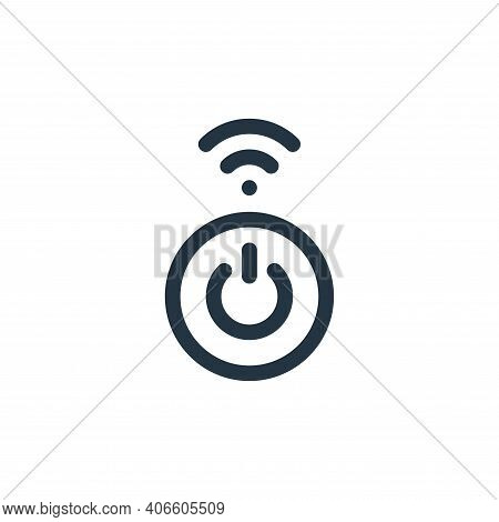 turn on icon isolated on white background from internet of things collection. turn on icon thin line