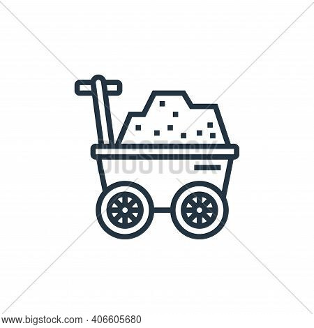 trolley icon isolated on white background from railway collection. trolley icon thin line outline li