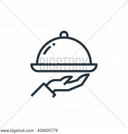 tray icon isolated on white background from food delivery collection. tray icon thin line outline li